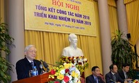 Sekjen KS PKV, Presiden Vietnam menghadiri Konferensi evaluasi pekerjaan tahun 2018 dan penggelaran tugas tahun 2019 dari Kantor Presiden Negara