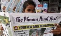 Koran-koran besar di Kamboja secara serempak meliput berita tentang  kunjungan kenegaraan Sekjen, Presiden Vietnam, Nguyen Phu Trong di Kamboja