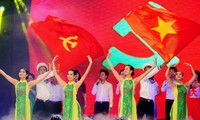 Art performance marks National Day