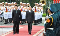 Cambodian King Norodom Sihamoni on a state visit to Vietnam