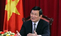 President Truong Tan Sang pays New Year visit to scientists