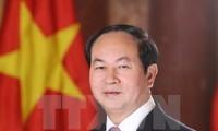 President Tran Dai Quang heads to Belarus