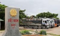 Vietnam-Lao border of peace, cooperation, and development
