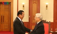 Party leader and President pleased with flourishing ties with Cambodia
