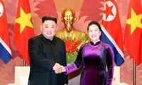 National Assembly Chairwoman meets DPRK Chairman