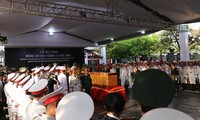 Burial service held for former President Le Duc Anh
