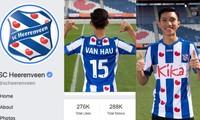 Heerenveen's Facebook page soars after Doan Van Hau's transfer