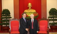 Party leader and President applauds Vietnam-Cambodia cooperation