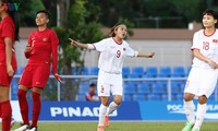 Vietnam female footballers advance to SEA Games semifinals