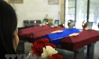 Funeral service held for victims of Moscow farm fire