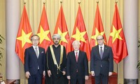 Party leader and President receives newly accredited ambassadors