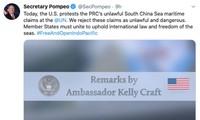 China's response to US statement regarding East Sea