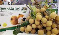 Fresh Vietnamese longan on sale in Australian market