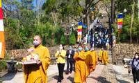 Buddhist Sangha prays for national peace, harmony