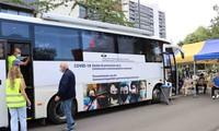Vaccine bus, an initiative of Brussels
