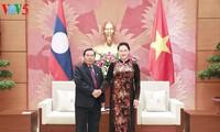 越南与老挝加强合作和分享两国国会及其下属机关的经验