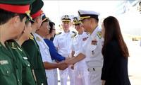 韩国海军军舰抵达岘港市