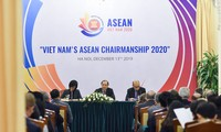 2020年越南东盟国家委员会秘书长、外交部副部长阮国勇就越南2020东盟主席年主持国际记者会