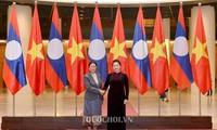 越老两国国会合作关系日益具体和务实
