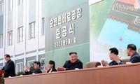 朝鲜最高领导人三周来首次公开露面