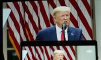 美国总统特朗普举行有关中美关系的新闻发布会