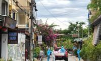 越南广南省会安市照顾被封锁地区的每个家庭