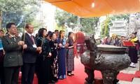 Данг Тхи Нгок Тхинь  приняла участие в церемонии празднования 1977-й годовщины восстания сестер Чынг