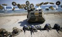 Republik Korea melakukan latihan perang di laut