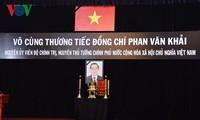 Во Вьетнаме прошла траурная церемония памяти экс-премьера страны Фан Ван Кхая