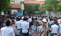 First day of university entrance exams