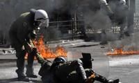 Greek protest turns violent during general strike