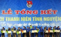 Commending organizations and individuals in 2013 Summer Youth Volunteer Campaign