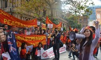 Vietnamese abroad protest  China's illegal actions in the East Sea
