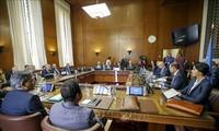 Iran, Russia, Turkey meet UN envoy on Syria constitution
