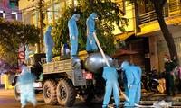 Military forces disinfect Da Nang coronavirus hotspot