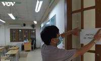 Hanoi disinfects exam sites to mitigate COVID-19 risk