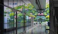 Terminal 2 of Noi Bai International Airport falls quiet