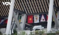 Cờ Tổ quốc Việt Nam đã tung bay trên sân vận động Tokyo