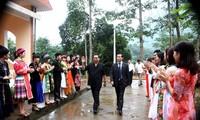 Politburo member Le Hong Anh works in Ha Giang