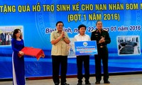 Gifts presented to victims of bombs and landmines in Binh Dinh province