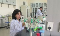 Female scientist passionate in veterinary studies