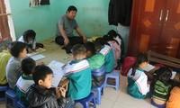 Disabled teacher dedicated to poor children