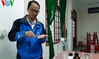 Chemistry teacher makes hand sanitizers to help fight Covid-19