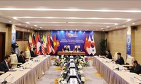ASEAN+3  leaders talk with East Asia Business Council representatives