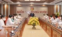 Top legislator urges State audit office to improve operational efficiency