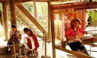 Traditional brocade weaving of Black Thai ethnic group