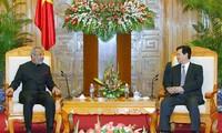 Thủ tướng Nguyễn Tấn Dũng tiếp Bộ trưởng Bộ Tư pháp Srilanka