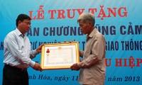 Truy tặng Huân chương Dũng cảm cho anh Trần Hữu Hiệp