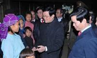 Chủ tịch nước Trương Tấn Sang thăm và làm việc tại tỉnh Hà Giang