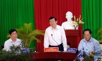 Chủ tịch nước Trương Tấn Sang kiểm tra công trình xây dựng Khu lưu niệm GS,Viện sĩ Trần Đại Nghĩa